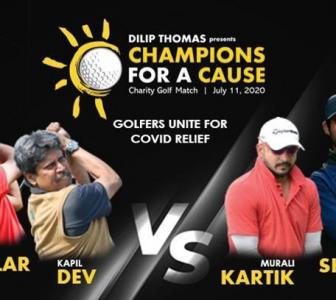 Kapil joins golfers, raises Rs 45 lakh for COVID-19