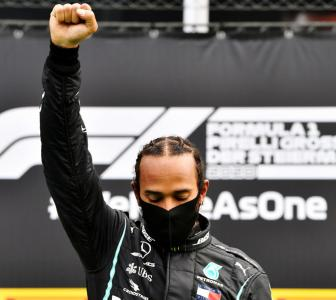 Hamilton's raised fist revives memories of Mexico 1968