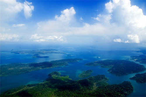 Aerial view of Andaman Island.