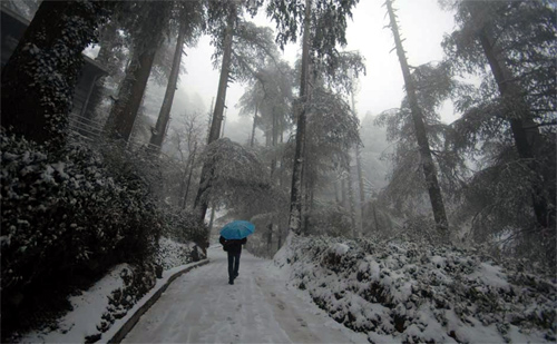 Snow in Shimla.