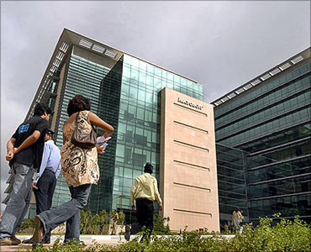 Microsoft campus in Hyderabad.