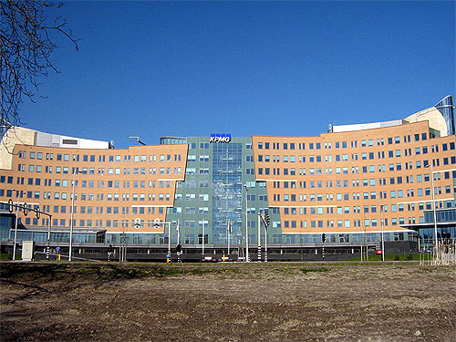 Headquarters of accountancy and consultancy company KPMG, The Netherlands.