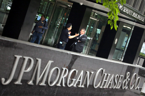 JP Morgan Chase & Co. headquarters is pictured in New York.