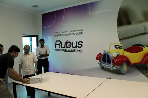 Kris Gopalakrishnan, co-founder, Infosys at the Statup Village office.