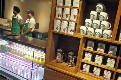 Starbucks serves a local brew