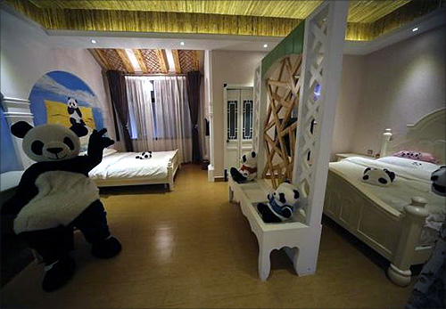 World's first panda themed hotel in China!