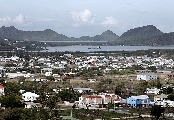 A view showing parts of St. John's on the Caribbean island of Antigua.