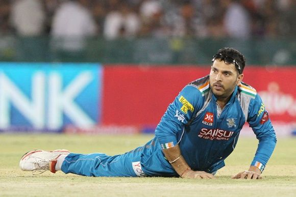 Yuvraj Singh: About 1,500 runs and 29 wickets in the IPL.
