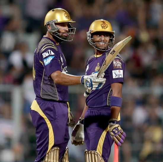 Yusuf Pathan celebrates his half-century.