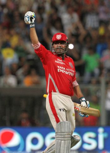 Sehwag's blazing ton powers Kings XI into IPL final