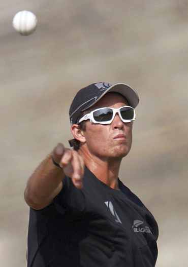 Tim Southee during a practice session