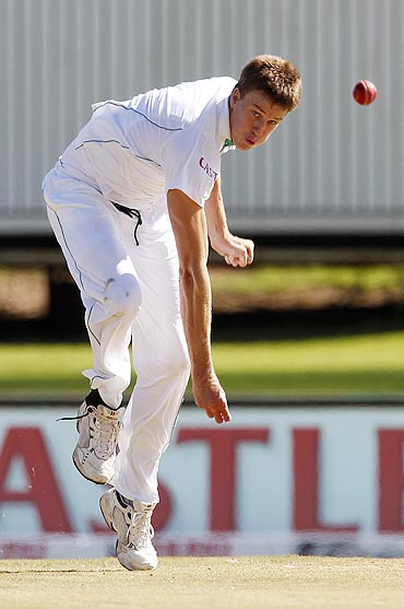 South Africa's Morne Morkel bowls on Day 1 of the first Test vs India in Centurion