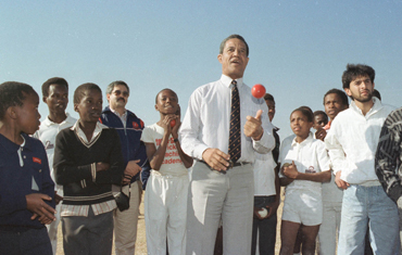 Gary Sobers, still spinning the ball with familiar guile
