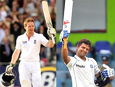 Eoin Morgan and Suresh Raina