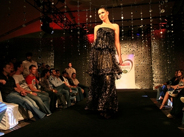 A fashion show at an IPL party