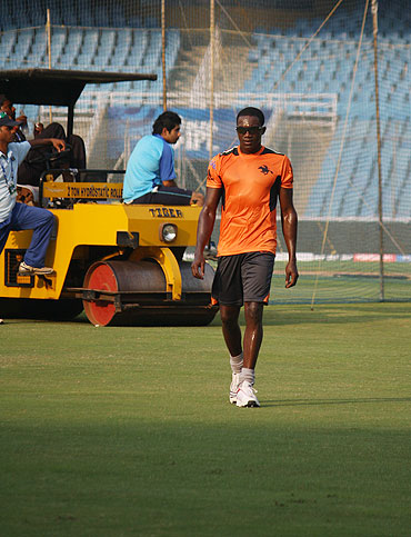 Jerome Taylor during the practice session