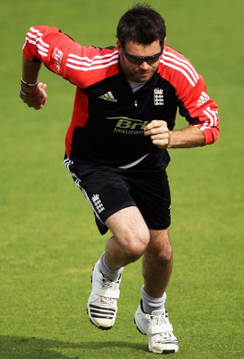 James Anderson during training at The Oval
