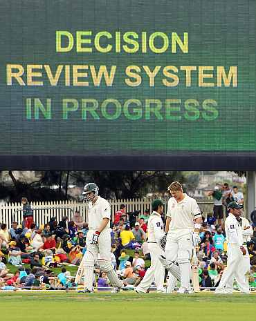 Decision Review System being used during the Ashes Test series