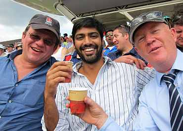 Siddhanta Pinto enjoying the Lord's atmosphere