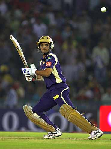 Sourav Ganguly in Kolkata Knight Riders colours