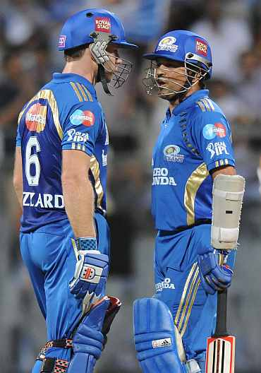 Sachin Tendulkar and Aiden Blizzard