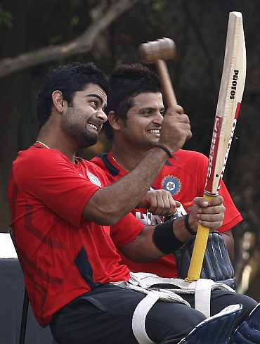 Virat Kohli and Suresh Raina