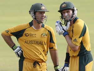 Ponting and Hussey