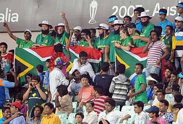 Fans having a good time during the match against South Africa and Ireland