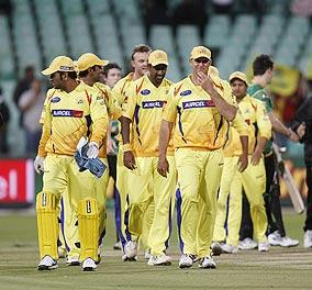 Chennai Super Kings' team