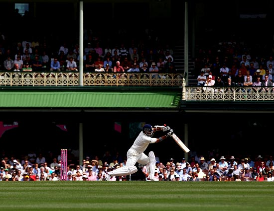 Sachin Tendulkar during the Sydney Test against Australia, January 6, 2012