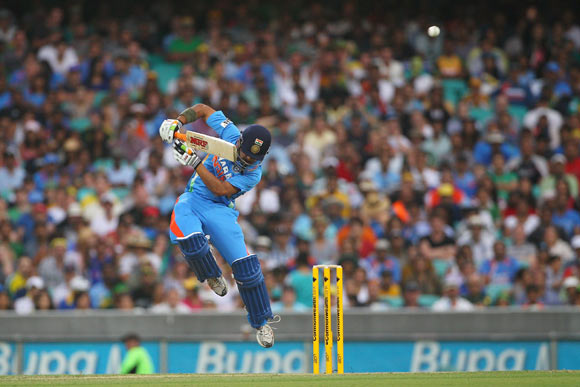Gautam Gambhir of India attempts to play a shot during the One Day International match between Australia and India at the Sydney Cricket Ground