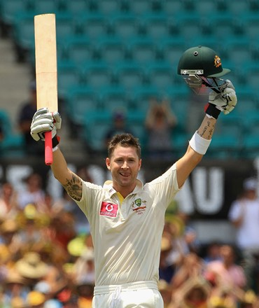 Clarke after scoring his triple hundred at the SCG