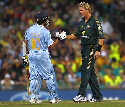 Sachin Tendulkar and Brett Lee