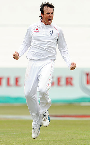 Graeme Swann was a pick of the bowlers for England having scalped all four wickets on the day