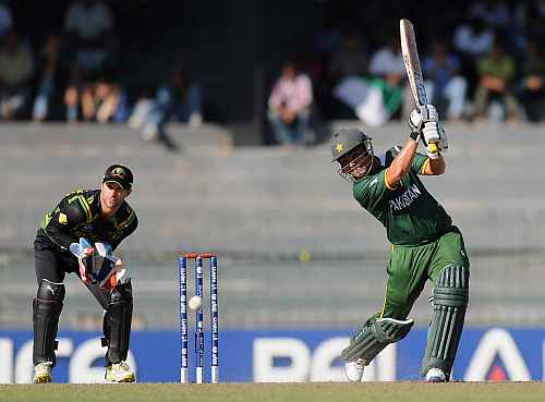 Kamran Akmal of Pakistan bats during the ICC World Twenty20 2012 Super Eights Group 2 match