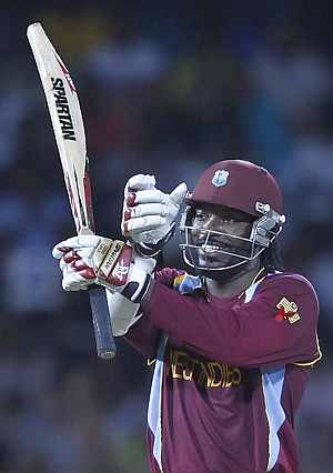 Chris Gayle lives up to his Twitter remark