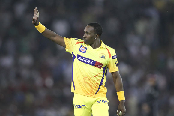 Dwayne Bravo of Chennai Super Kings