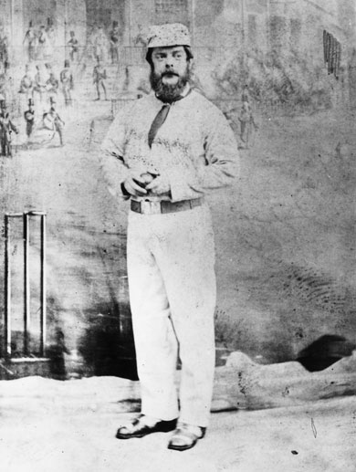 John Wisden (1826 - 1884), a successful fast round arm bowler and best known as the founder of the Wisden Cricketer's Almanac