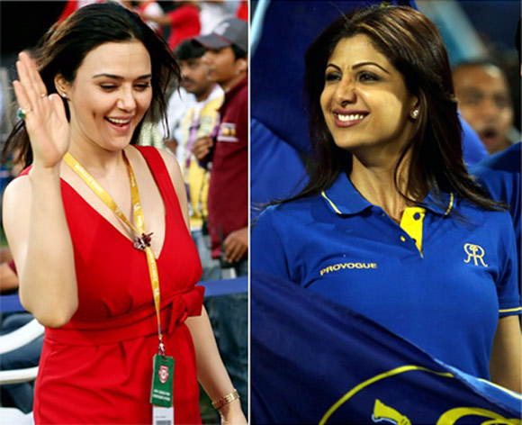Preity Zinta, the co-owner of Kings XI Punjab and Shilpa Shetty