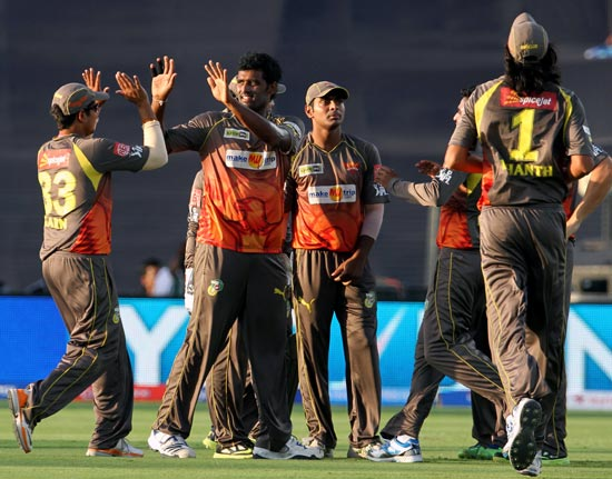 Sunrisers Hyderabad players celebrate