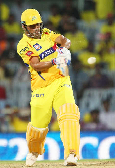 M S Dhoni finishes off the match in style