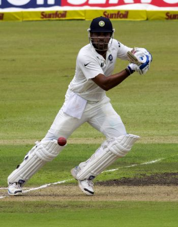 SA pacers toil as Pujara, Vijay put India in command