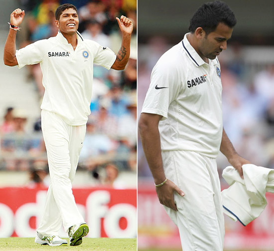 Who will replace Zaheer and Umesh for Aus Tests?