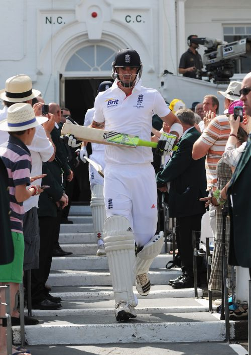 Kevin Pietersen walks out to bat during day three of the 1st Investec Ashes Test match between England and Australia at Trent Bridge Cricket Ground