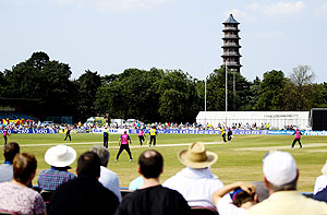 A general view of play during a cricket match
