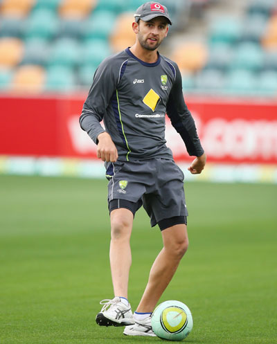 Nathan Lyon an Australian nets session
