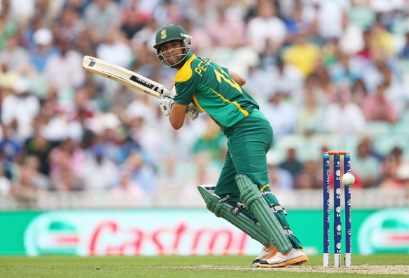 Robin Peterson of South Africa hits out