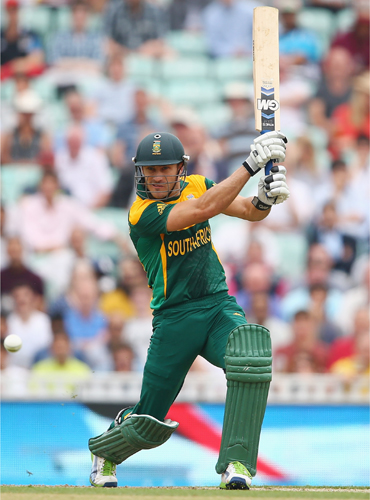 Faf du Plessis of South Africa hits out