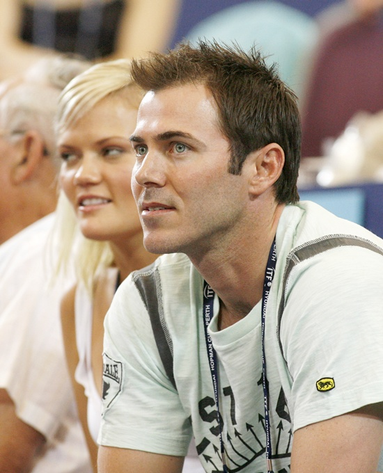 Former Australian test cricketer, Damien Martyn, and his wife (left)