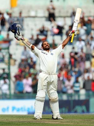 Dhawan lights up Mohali with record-breaking ton